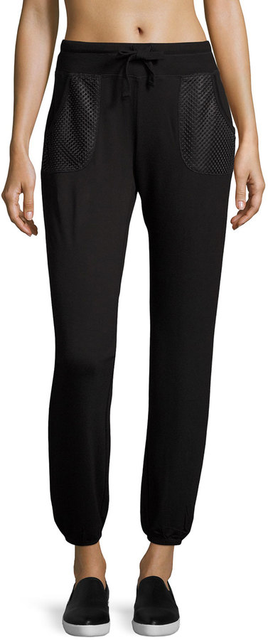 Marc NY Performance Perforated Pocket Jogger Pants, Black