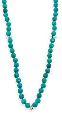 Nest Long Turquoise Spiked Beaded Necklace