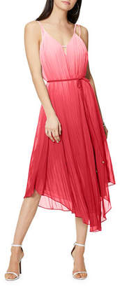 Ramy Brook Viola Ombre Pleated Spaghetti-Strap Dress