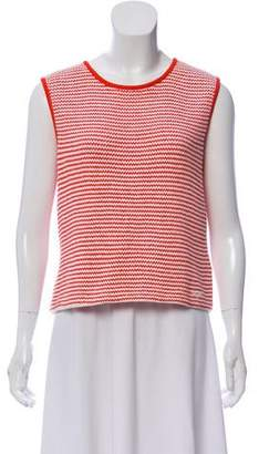 St. John Sport Sleeveless Stripe Sweater