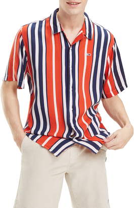 df82abfc3 Tommy Jeans Relaxed Fit Stripe Camp Shirt