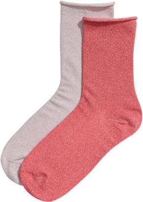 H&M 2-pack fine-knit socks - Pink