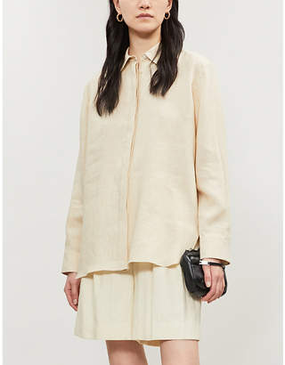 Theory Oversized pure linen shirt