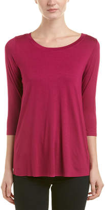 Three Dots Split Back Top