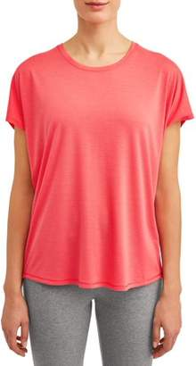 Athletic Works Women's Athleisure Everwhere Short Sleeve Wrap Back T-Shirt