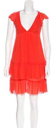 Marc Jacobs Ruffle-Accented Knee-Length Dress
