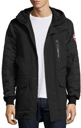 Canada Goose Selwyn Quilted Puffer Coat, Black $595 thestylecure.com