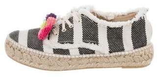Loeffler Randall Striped Lace-Up Espadrilles