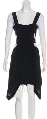 Isabel Marant Sleeveless Silk Pinafore Dress