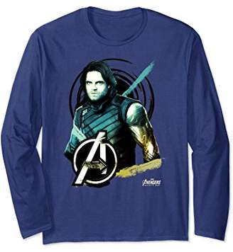 Marvel Avengers Infinity War Bucky Steel Arm Long Sleeve Tee