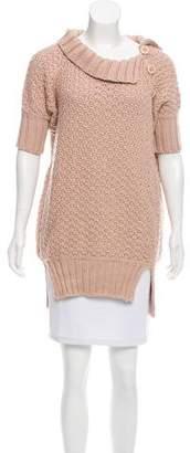 Stella McCartney Open Knit Short Sleeve Sweater