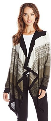Design History Women's Colorblock Marled Cardigan $27.46 thestylecure.com