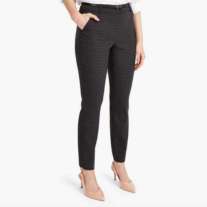 Black/Grey Alice Jacquard Trousers