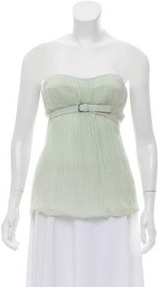 Kaufman Franco KAUFMANFRANCO Strapless Pleated Top
