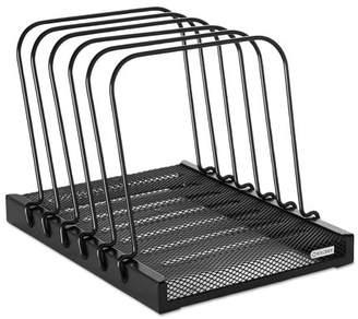 Rolodex Mesh Flip File Folder Sorter, Five Sections, Black, 10 1/4 x 7 1/2 x 7 1/2 -ROL1742323