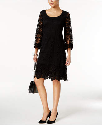 Alfani Crochet-Trim Illusion Dress, Only at Macy's $99.50 thestylecure.com