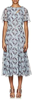 Erdem Women's Kathryn Floral Silk Midi-Dress