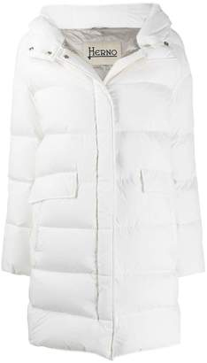 Herno quilted hooded coat