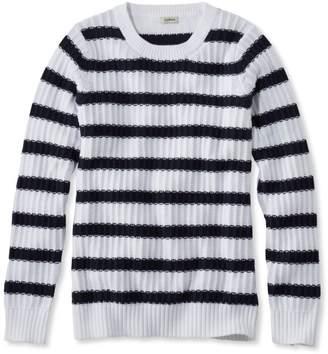 L.L. Bean Fisherman's Ribbed Sweater, Crewneck Stripe