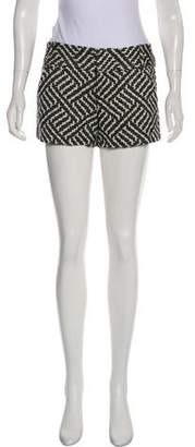 Alice + Olivia Patterned Mid-Rise Shorts
