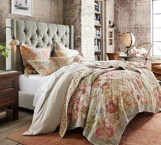 Pottery Barn Channel Silk Quilt