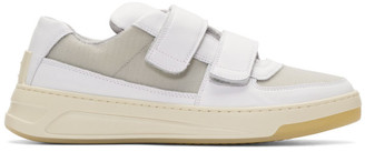Acne Studios White Hook Perey Strap Sneakers