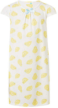 John Lewis & Partners Girls' Chick Print Nightdress, Yellow