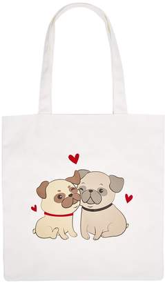 Forever 21 Pug Love Graphic Eco Tote Bag