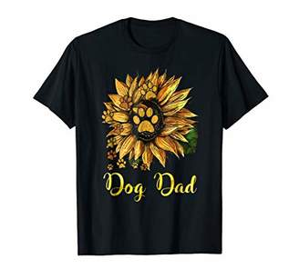Dog Dad Sunflower Shirt Funny Cute Family Gifts Tee Apparel
