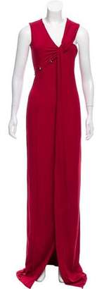 Thierry Mugler Asymmetric Carmin Dress w/ Tags