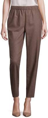 Lafayette 148 New York Women's Finite Italian Flannel Track Pants