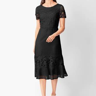 Talbots Mixed-Lace Fit & Flare Dress