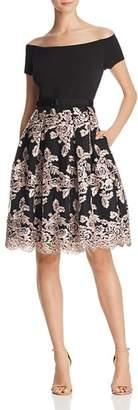Eliza J Off-the-Shoulder Party Dress