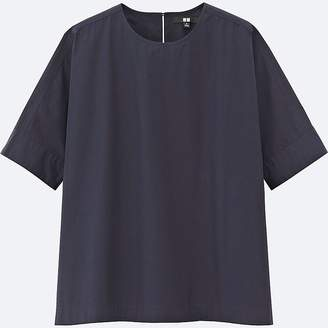 Uniqlo Women's Extra Fine Cotton Short-sleeve T Blouse