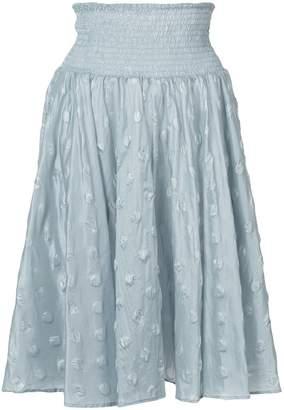 Julien David woven spotted skirt