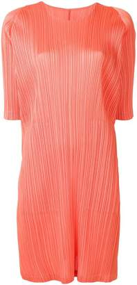 Pleats Please Issey Miyake short-sleeve pleated dress