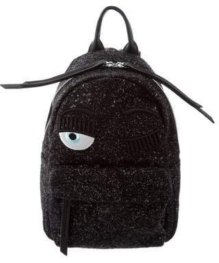 Chiara Ferragni Glitter-Embellished Flirting Eye Backpack