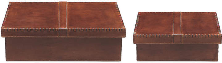 Set of 2 Frontera Boxes - Tobacco