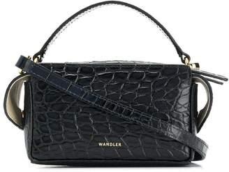 Wandler crocodile embossed box bag