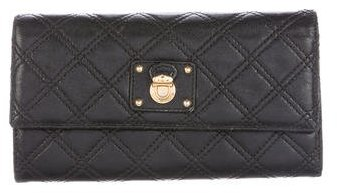 Marc Jacobs Marc Jacobs Quilted Leather Ginger Wallet