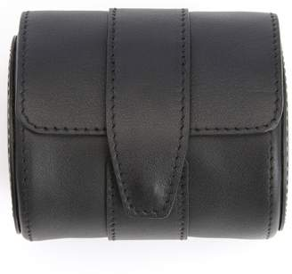 Royce Leather ROYCE Executive Travel Watch Roll in Smooth Genuine Leather with Suede Interior, Fits 1 Watch - Black