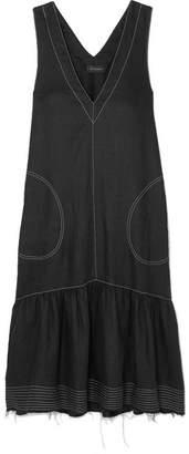 DAY Birger et Mikkelsen Lee Mathews - Carrie Frayed Linen Midi Dress - Black
