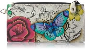 Anuschka Anna By Anuschka, Handpainted Leather Organizer Wallet, Credit Card Holder, FPD