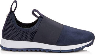 Jimmy Choo OAKLAND/F Navy Mesh and Suede Trainers