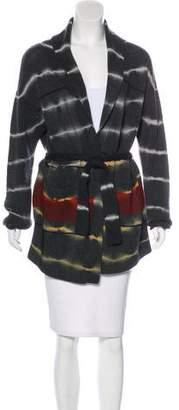 Raquel Allegra Tie-Dye Wool & Cashmere-Blend Cardigan