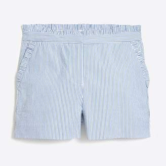 J.Crew Factory Seersucker ruffle short
