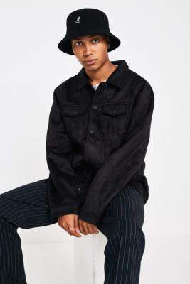 The New County Black Faux Suede Trucker Jacket