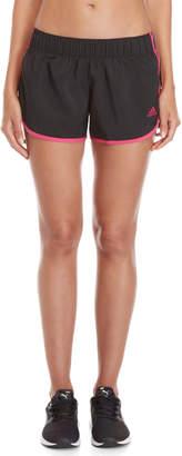 adidas Black & Magenta M10 Icon Running Shorts