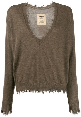 UMA WANG distressed edge jumper