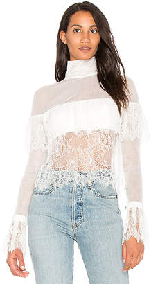 VATANIKA Off Shoulder Lace Blouse